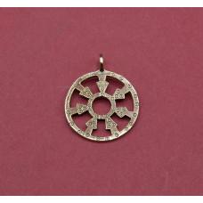 Decorative amulett with the sun
