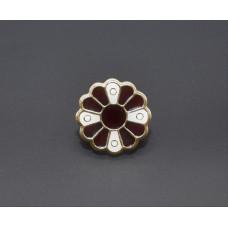 Almandine disc brooch  LOW-PRICED