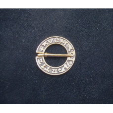Ring brooch Ave Maria