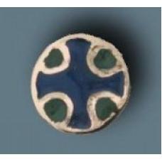 Cross brooch with enamel