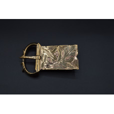 Florally ornated buckle