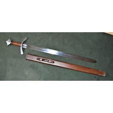 High medieval sword , scabbard , praktical blunt