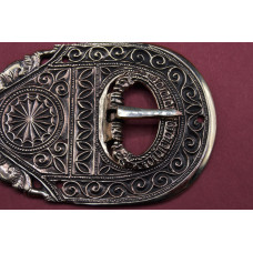 Late Roman Large Chip Carved Buckle