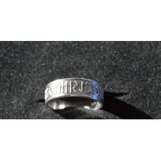 Rune ring 24 futhark Silver