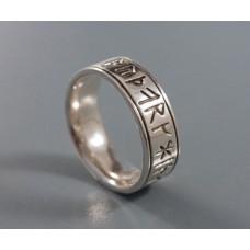 Rune ring 16 futhark Silver