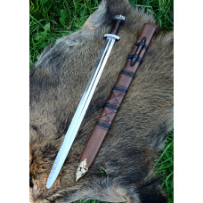 Sword with fivelobed pommel , Scabbard , practical blunt B
