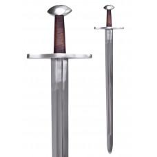 Brazil nut pommel sword incl. scabbard , battle ready