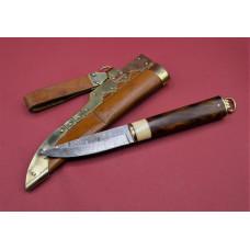 """Long Viking knife """" Sweden """" damask steel"""